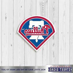 Philadelphia Phillies Laser Cut Steel Logo Spirit Size Pr Au
