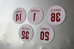 Philadelphia Phillies Legends magnets: Ashburn Schmidt Bunni