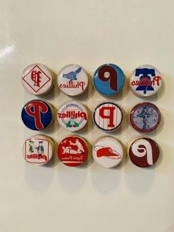 Philadelphia Phillies Magnets - Set of 12 - FREE SHIPPING