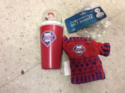 Philadelphia Phillies Mascot Cup And Bear Sweater NWOT