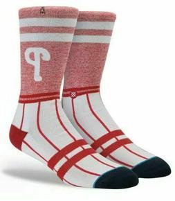 Stance ~ Philadelphia Phillies Men's Crew Socks ~  Large ~