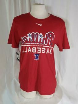 Philadelphia Phillies Mens Nike Tew Mens M Red TShirt MLB NW
