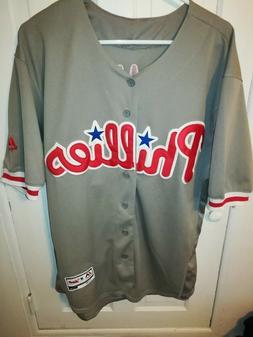 Majestic Philadelphia Phillies Mike Schmidt #20 Gray Sewn Je