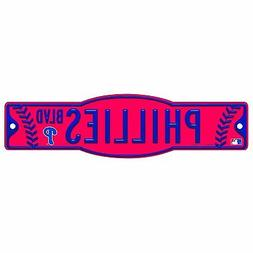 "Philadelphia Phillies MLB 4""x17"" Street Sign Phillies BLVD"