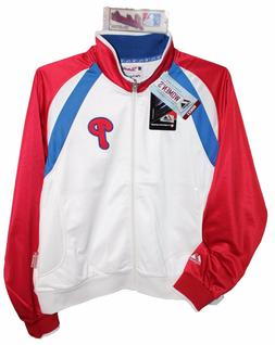 PHILADELPHIA PHILLIES MLB Authentic Majestic Jacket Womens L