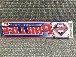 "PHILADELPHIA PHILLIES MLB BUMPER STICKER 3"" x 12"" WINCRAFT B"