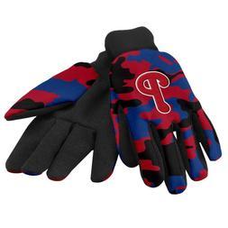 Philadelphia Phillies MLB Camoflauge Utility Gloves FREE SHI