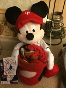 Philadelphia Phillies MLB Disney Mickey Mouse Pillow & Throw