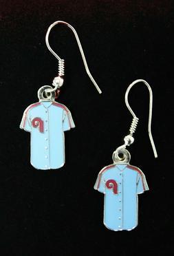 Philadelphia Phillies MLB Retro Jersey Dangle Earrings PSG