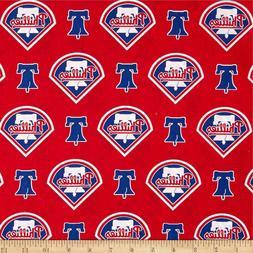Philadelphia Phillies MLB Logo and Name Design Cotton Fabric