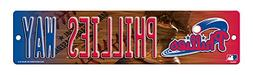 Philadelphia Phillies Official MLB 16 x 4 Plastic Street Sig