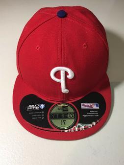 PHILADELPHIA PHILLIES MLB RETRO NEW ERA 5950 RED W/ BLACK UN