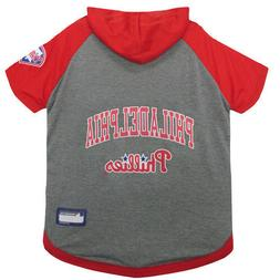 Philadelphia Phillies MLB Sporty Dog Pet Hoodie T-Shirt Size