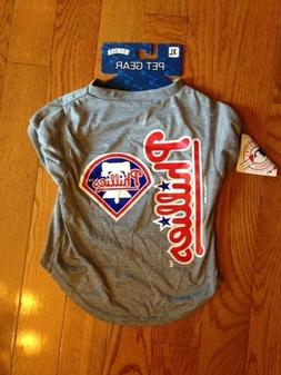 Philadelphia Phillies Hunter Pet Gear Jersey Gray Size X-Lar