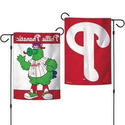 "PHILADELPHIA PHILLIES PHILLIE PHANATIC MASCOT 12""X18"" 2-SIDE"