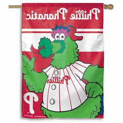 Philadelphia Phillies Phillie Phanatic Vertical Flag: 27x37