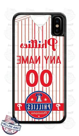 PHILADELPHIA PHILLIES PHONE CASE COVER WITH ANY NAME & # For