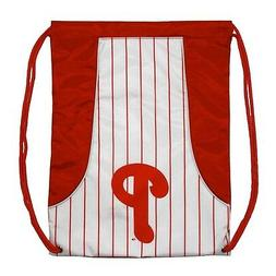 philadelphia phillies pinstripe cinch bag drawstring backpac