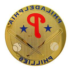 Philadelphia Phillies Round Metal MLB Logo Magnet
