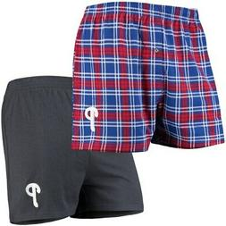 Philadelphia Phillies Concepts Sport 2-Pack Boxer Shorts - R