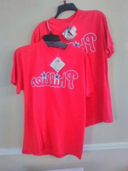 Majestic Philadelphia Phillies Santana #41 Red T- Shirts. Lo