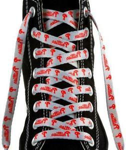 "Philadelphia Phillies Shoe Laces 54""  MLB Lace Sneaker Tenni"