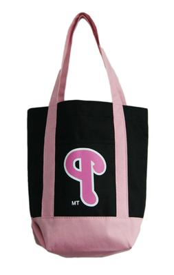 Philadelphia Phillies Small Pink/Black Tote Bag