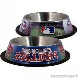 Philadelphia Phillies Stainless Steel Pet Bowl
