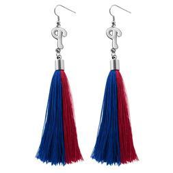 Philadelphia Phillies Tassel Earrings MLB Authentic Made by