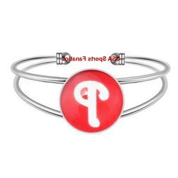 Philadelphia Phillies Team Logo Adjustable Bangle Bracelet