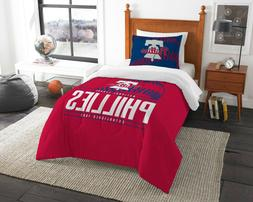 "Philadelphia Phillies Twin Comforter & Sham Set  ""Grand Slam"
