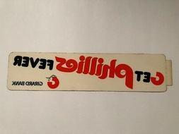 PHILADELPHIA PHILLIES VINTAGE 1970'S PROMOTIONAL  BUMPER STI