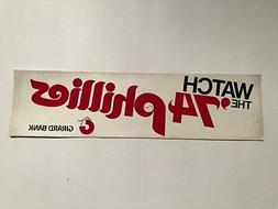 PHILADELPHIA PHILLIES VINTAGE 1974 PROMOTIONAL  BUMPER STICK
