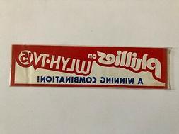 PHILADELPHIA PHILLIES VINTAGE 1980'S WLYH-TV 15 PROMOTIONAL