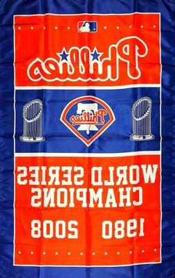 Philadelphia Phillies World Series Championship Flag 3x5 ft