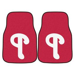 MLB Philadelphia Phillies 18 x 27 - 2 Piece Front Car Mats
