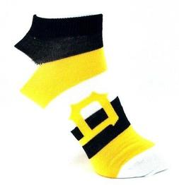 Pittsburgh Pirates Ladies Pro Stripe Ankle Socks White Yello