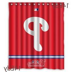 Rare Philadelphia Phillies Baseball Custom Waterproof  Showe