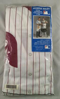 Vintage Philadelphia Phillies BBQ Apron & Baseball Glove Mit