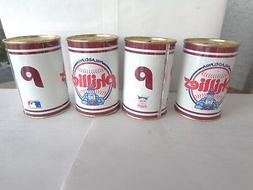 Vintage Philadelphia Phillies Coin Bank 1984 Lot of 4 Cans O