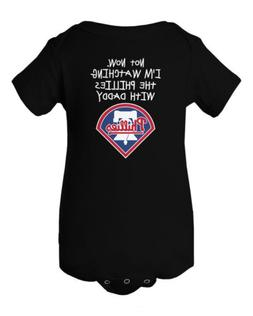 Watching With Daddy Philadelphia Phillies Baby Short Sleeve